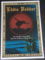 Ryan Immegart Eddie Vedder Poster Maui Honolulu Hawaii 2009