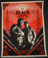 Shepard Fairey Black Keys Poster New York 2012 Artist Edition Night 1 S/N