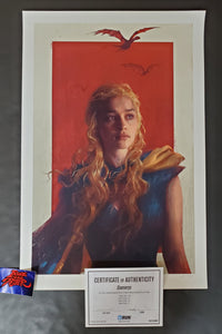 Sam Spratt Daenerys Mother of Dragons Art Print Game of Thrones 2014