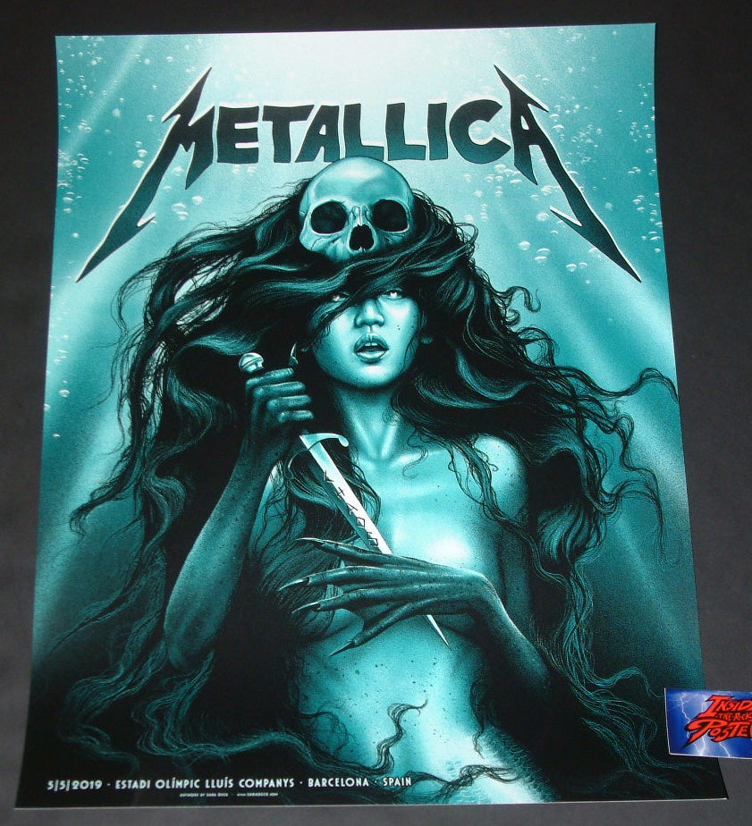 Sara Deck Metallica Barcelona Poster VIP Signed Artist Proof 2019