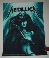 Sara Deck Metallica Barcelona Spain Poster VIP Artist Edition 2019