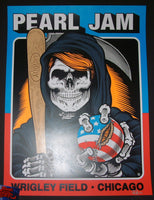 Sean Cliver Pearl Jam Chicago Poster Wrigley Field 2016 Artist Edition