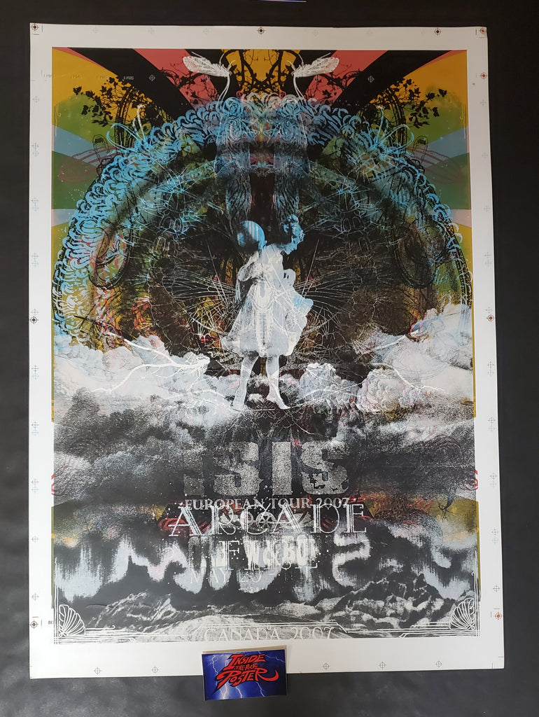 Seldon Hunt Isis Euro Tour Arcade Fire Canada Test Print Poster 2007