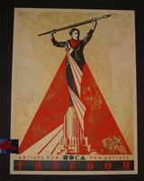 Shepard Fairey Artists for Freedom Art Print 2015