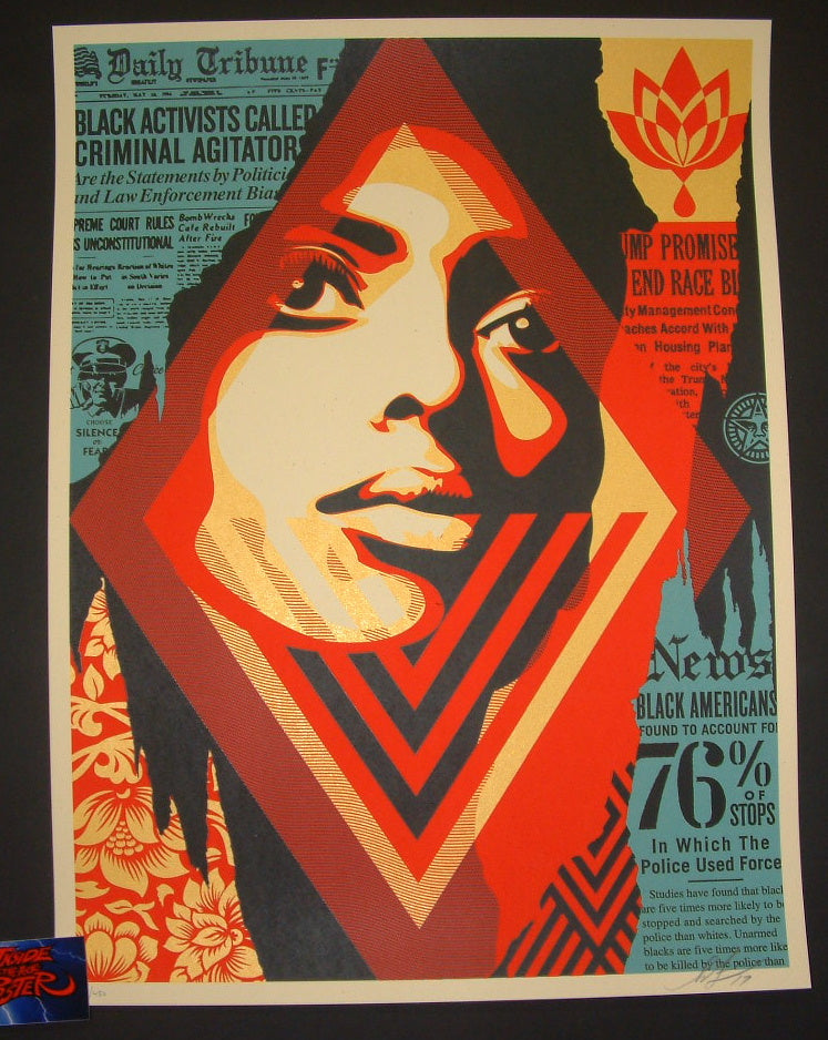 Shepard Fairey Bias by Numbers Art Print 2017