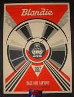 Shepard Fairey Blondie North America Tour Poster S/N 2017