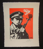 Shepard Fairey Chinese Soldiers Letterpress Art Print 2014