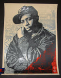 Shepard Fairey Chuck D Black Steel Art Print Red Variant 2018