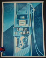 Shepard Fairey Danger No Smoking Art Print 2016