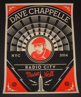 Shepard Fairey Dave Chappelle Concert Poster New York 2014 Obey Giant