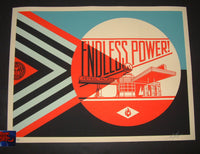 Shepard Fairey Endless Power Petrol Palace Print Blue Variant 2019