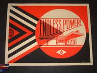 Shepard Fairey Endless Power Petrol Palace Print Red Variant 2019
