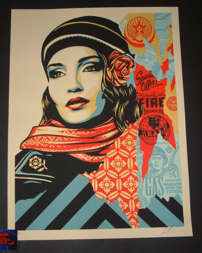 Shepard Fairey Fire Sale Art Print 2018