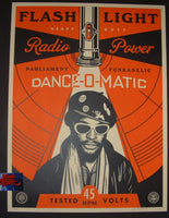Shepard Fairey George Clinton Flash Light Art Print 2016