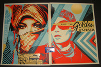 Shepard Fairey Golden Future For Some Diptych Art Prints Set 2017