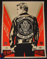 Shepard Fairey Henry Rollins Poster Leather Jacket Variant 2016 Obey
