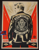 Shepard Fairey Henry Rollins Poster Suit Coat Variant 2016 Obey