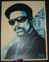 Shepard Fairey Ice T OG Art Print Blue Variant 2016 Glen E. Friedman
