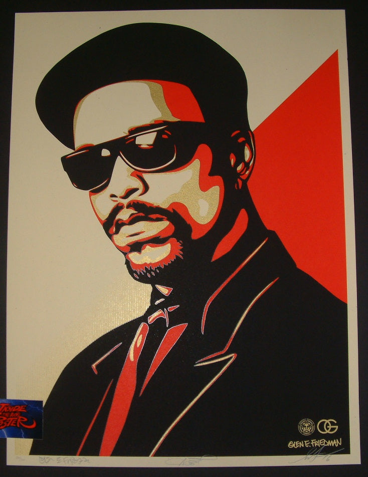 Shepard Fairey Ice T OG Art Print Red Variant 2016 Glen E. Friedman