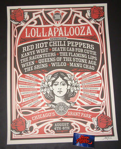 Shepard Fairey Lollapalooza Chicago Poster 2006