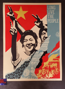 Shepard Fairey Long Live the People Poster 2020