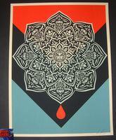 Shepard Fairey Blood Drop Mandala Art Print 2017