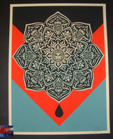 Shepard Fairey Oil Drop Mandala Art Print 2017