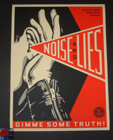 Shepard Fairey Noise And Lies Art Print Red Variant 2018
