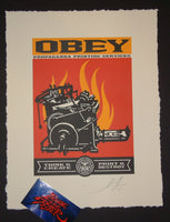Shepard Fairey Obey Print and Destroy Letterpress Art 2015