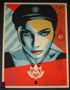 Shepard Fairey Oil Lotus Woman Art Print 2018