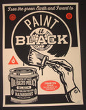 Shepard Fairey Paint It Black Brush Art Print 2014 Obey Giant