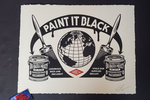 Shepard Fairey Paint It Black Letterpress Art Print 2020