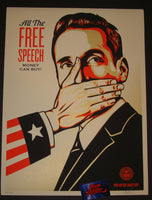 Shepard Fairey Pay Up Or Shut Up Art Print 2015