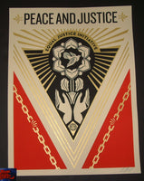 Shepard Fairey Peace & Justice Summit Poster 2018