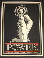 Shepard Fairey Power Bidder Art Print 2015