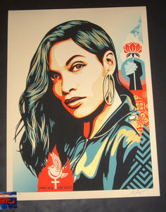 Shepard Fairey Power & Equality Art Print Dove Edition 2019