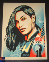 Shepard Fairey Power & Equality Art Print Flower Edition 2019