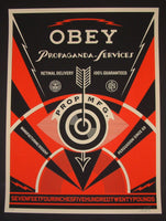 Shepard Fairey Propaganda Services Eye Art Print 2014 Obey Giant