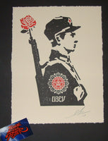 Shepard Fairey Rose Soldier Letterpress Art Print 2017