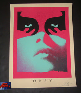 Shepard Fairey Obey Shadowplay Art Print Blue Variant 2019