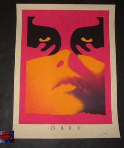 Shepard Fairey Obey Shadowplay Art Print Orange Variant 2019