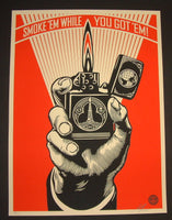 Shepard Fairey Smoke 'Em While You've Got 'Em Art Poster 2015