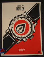 Shepard Fairey Time to Move On Art Print 2015