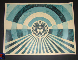 Shepard Fairey Tunnel Vision Art Print Alternate Blue Variant 2018