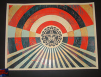 Shepard Fairey Tunnel Vision Art Print Alternate Gold Variant 2018