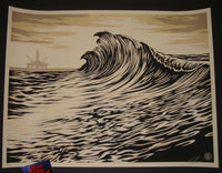 Shepard Fairey Water is the New Black Art Print 2015