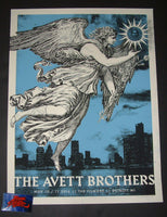 Silent Giants Avett Brothers Poster Detroit 2016 Artist Proof