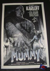 Stan and Vince The Mummy Movie Poster Variant 2018 Mondo