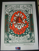 Stanley Mouse Alton Kelley Grateful Dead Poster San Francisco 1966 Signed Family Dog