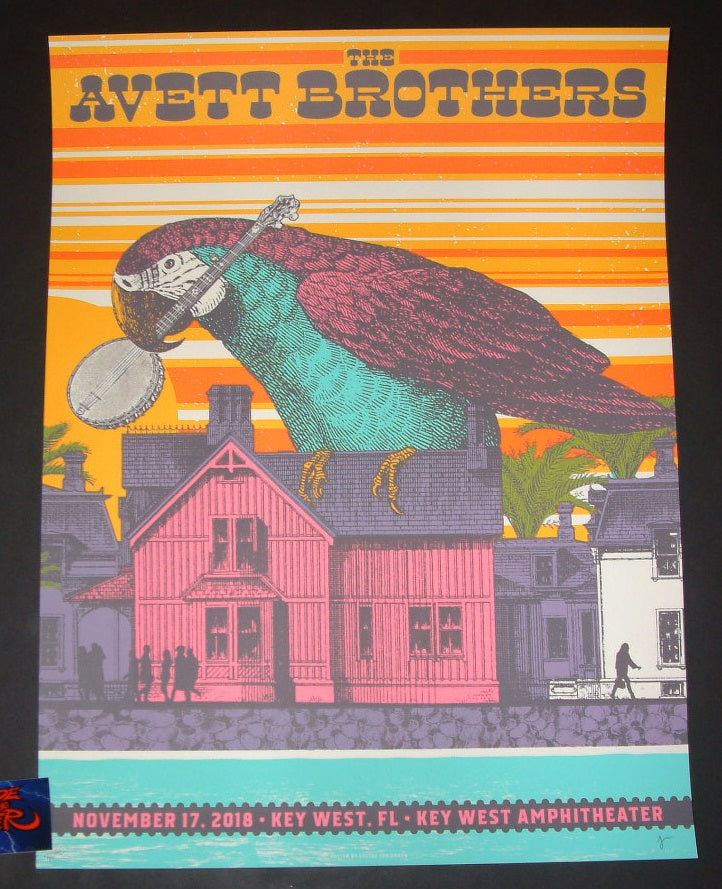Status Serigraph Avett Brothers Key West Poster Artist Edition 2018 Night 2